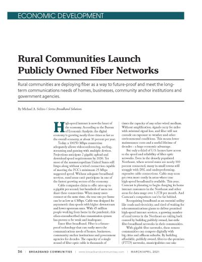 BBC Mag-Rural Communities Launch Publicly Owned Fiber Networks