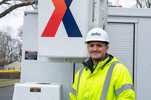 Sean, Lineman, Splicer and Installer, Sertex team member since 2020